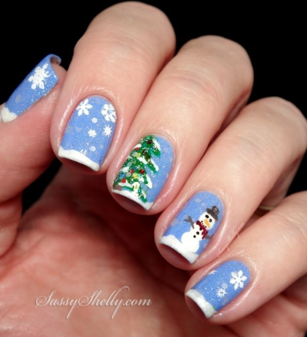 Trendy Winter and Christmas Nails Designs
