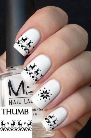 Trendy Winter And Christmas Nails Designs Stylish List