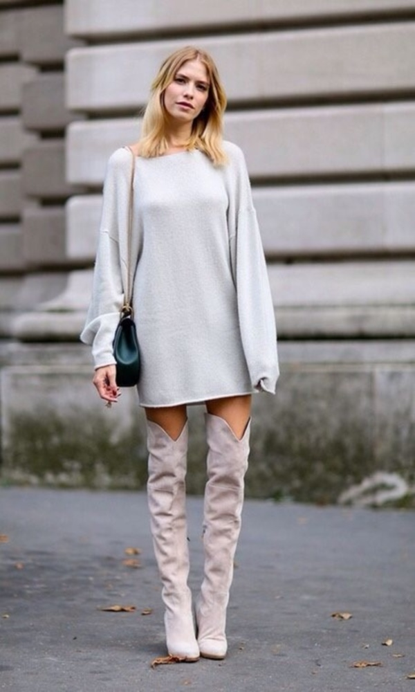 c2f433e53b0 30 Knee High Boots Outfits to inspire you this winter