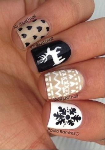 Beautiful Winter Nail Design