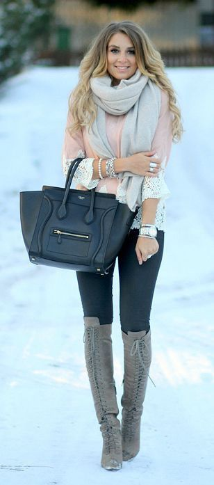 Click to find inspiration in these outfit ideas, which will make you attractive. #winter #fashion